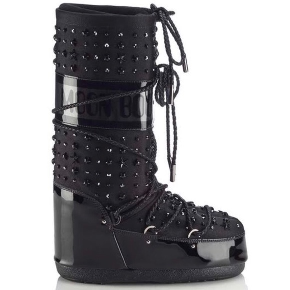 deebf598ebd8 Jimmy Choo Moon Boot Crystal Studded